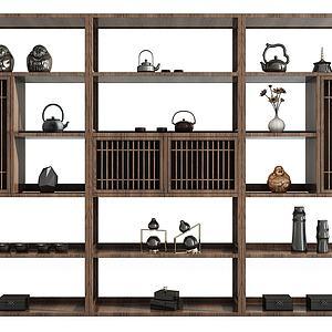 裝飾柜博古架組合3d模型