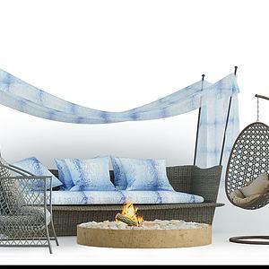 吊椅3d模型