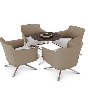 休閑桌椅3d模型