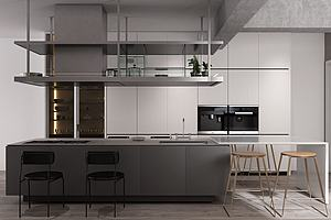 現代餐廳櫥柜模型3d模型