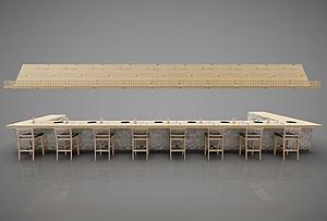 火锅吧台模型3d模型