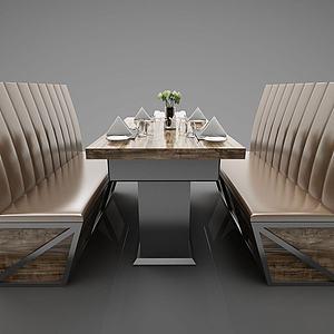 卡座餐廳3d模型