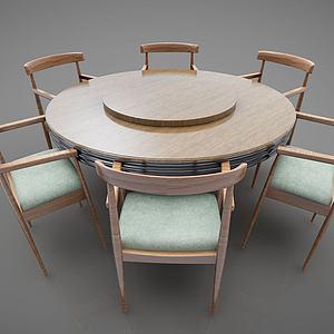 圓形餐桌3d模型