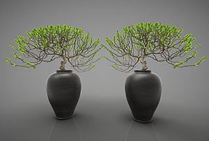 花瓶摆件模型3d模型
