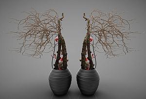 花瓶组合模型3d模型