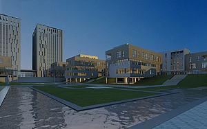 建筑透视模型3d模型