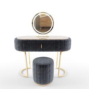法式梳妝柜3d模型