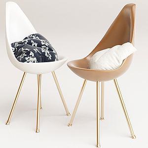 法式休閑單椅3d模型