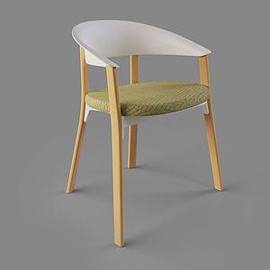 北歐休閑椅單椅家居椅3d模型