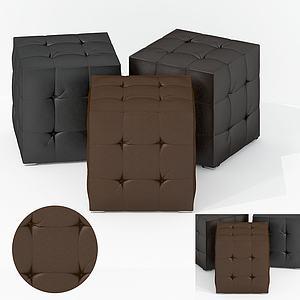 美式面包軟凳3d模型