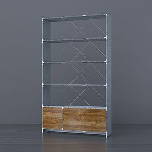 現代玻璃儲物架紅酒架3d模型