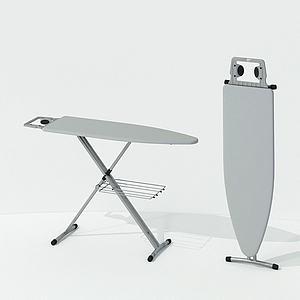 現代折疊熨衣服架3d模型
