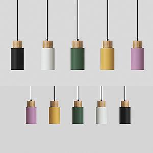 現代圓柱體吊燈3d模型