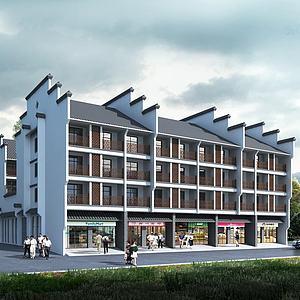 老年公寓3d模型