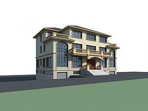 別墅模模型3d模型