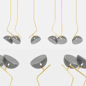 现代哑铃吊灯模型3d模型