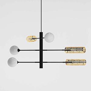 現代組合型吊燈3d模型