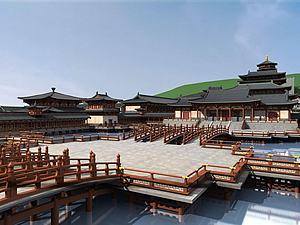 中式古建筑宫殿模型3d模型