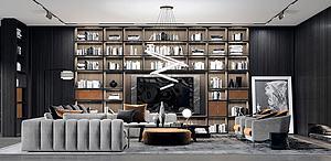 精品現代客廳模型3d模型