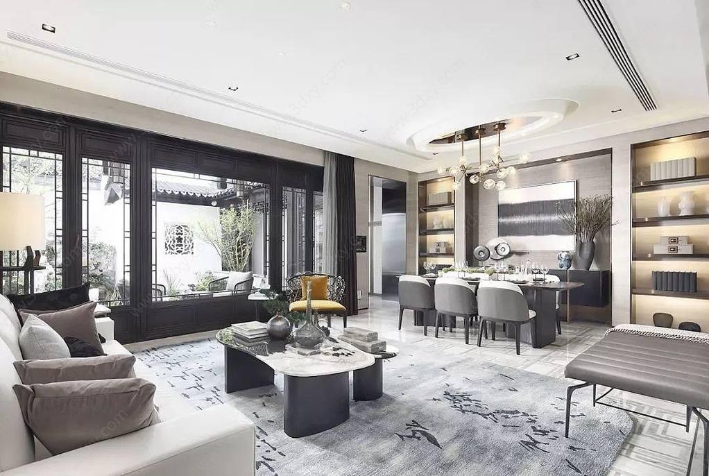 中式別墅客廳