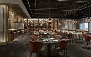 餐廳火鍋料理店模型3d模型