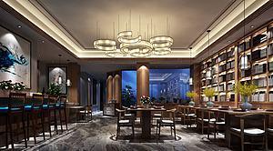 餐廳模型3d模型