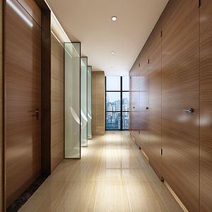 酒店客房走廊3d模型