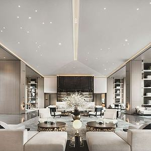新中式售樓處3d模型