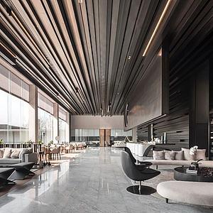 唐忠漢新作現代售樓處3d模型