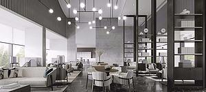 新中式售樓處休閑區模型3d模型