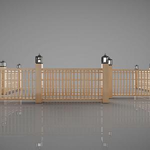 中式围栏3d模型