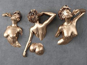 美女雕塑模型3d模型