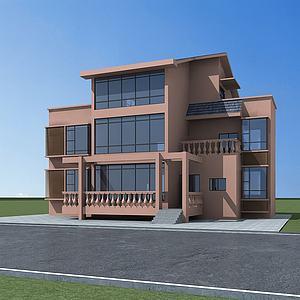 农村小别墅3d模型