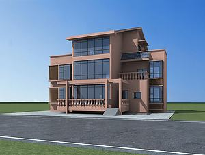 农村小别墅模型3d模型