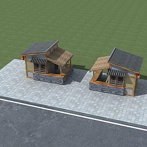 中式小賣部3d模型