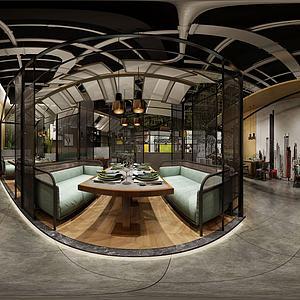餐廳全景3d模型