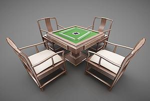 麻將桌模型3d模型