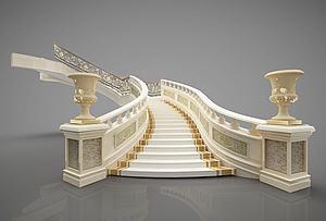樓梯模型3d模型