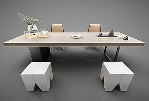 辦公桌模型3d模型
