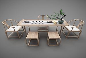 新中式茶臺模型3d模型