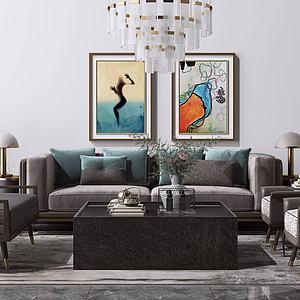 沙發組合3d模型