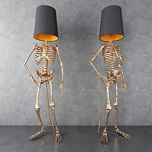 骷顱落地燈3d模型