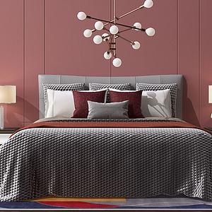 雙人床3d模型