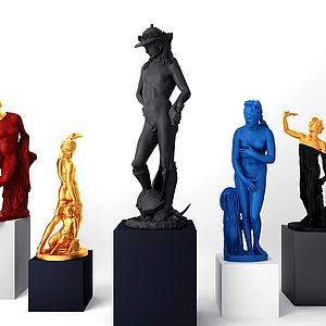 歐式雕塑3d模型