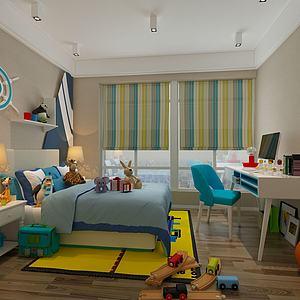 兒童房3d模型