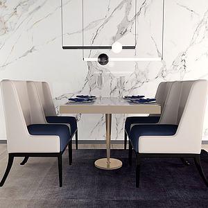 餐桌椅餐3d模型