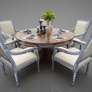 餐桌组合3d模型