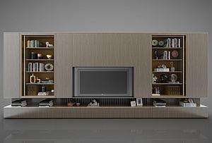 電視墻模型3d模型