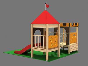 城堡滑梯模型3d模型