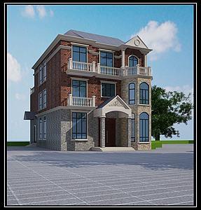 自建房模型3d模型